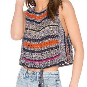 FREE PEOPLE Sleeveless Cropped Sweater Vest
